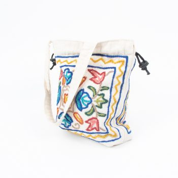 Small embroidered drawstring bag | Gallery 1 | TradeAid