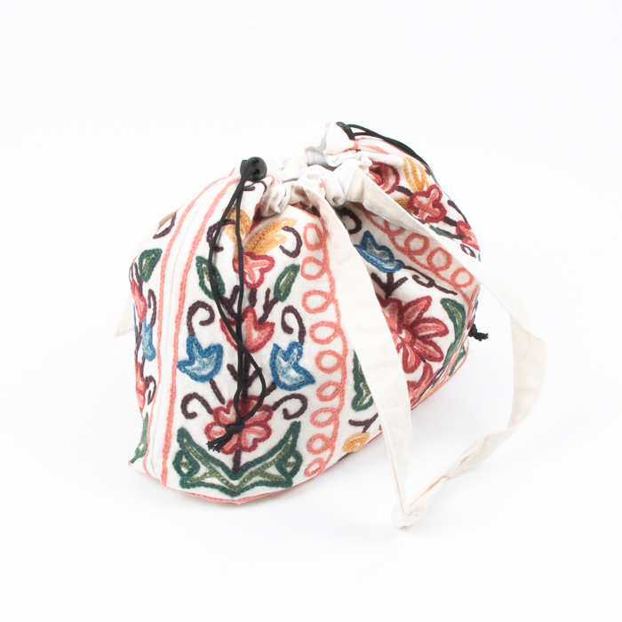 Large embroidered drawstring bag | Gallery 1 | TradeAid