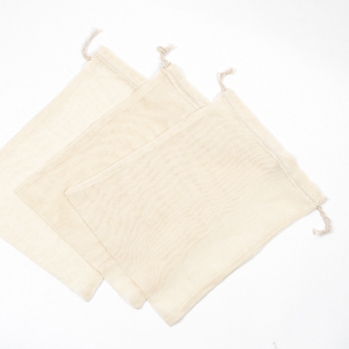 Set of three large cotton produce bags | TradeAid