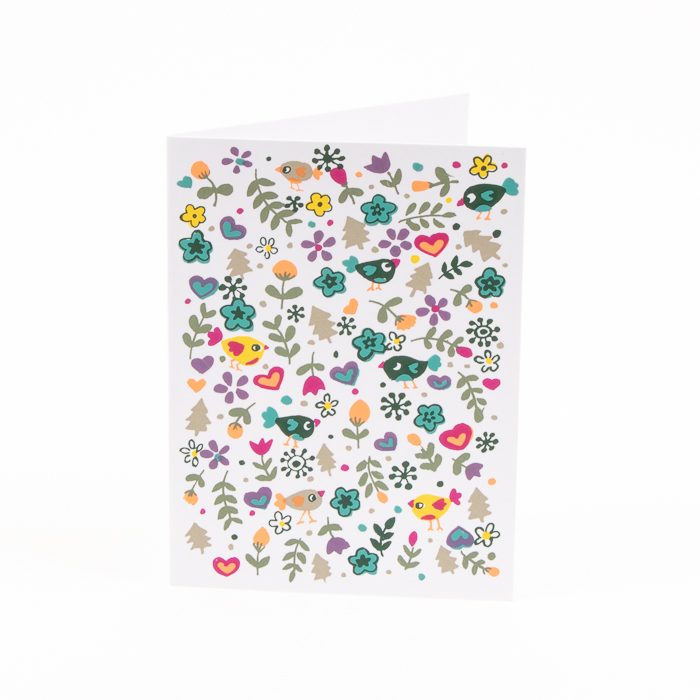 Birds and flowers card | TradeAid