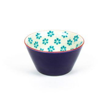 Blue bowl with floral design | TradeAid