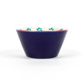 Blue bowl with floral design | Gallery 1 | TradeAid