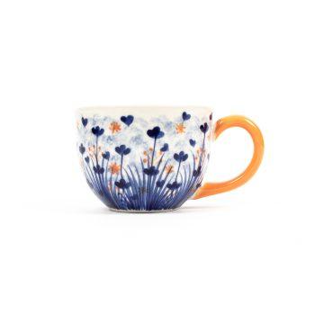 Ditzy marigold cappuccino cup | TradeAid
