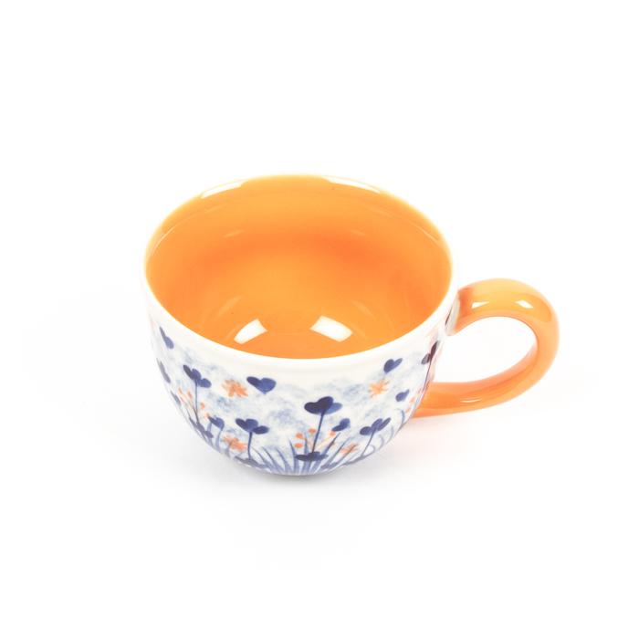 Ditzy marigold cappuccino cup | Gallery 1 | TradeAid