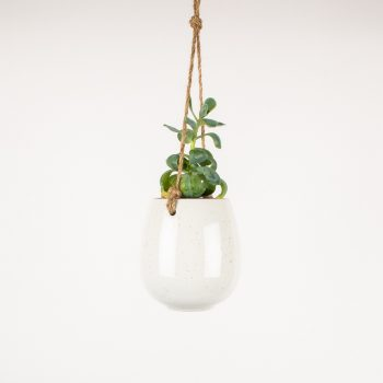 White ceramic hanging planter | TradeAid