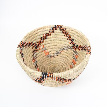 Round kaisa and recycled sari basket | Gallery 1 | TradeAid