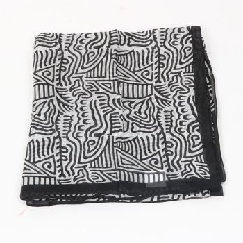 Black and white silk scarf | TradeAid