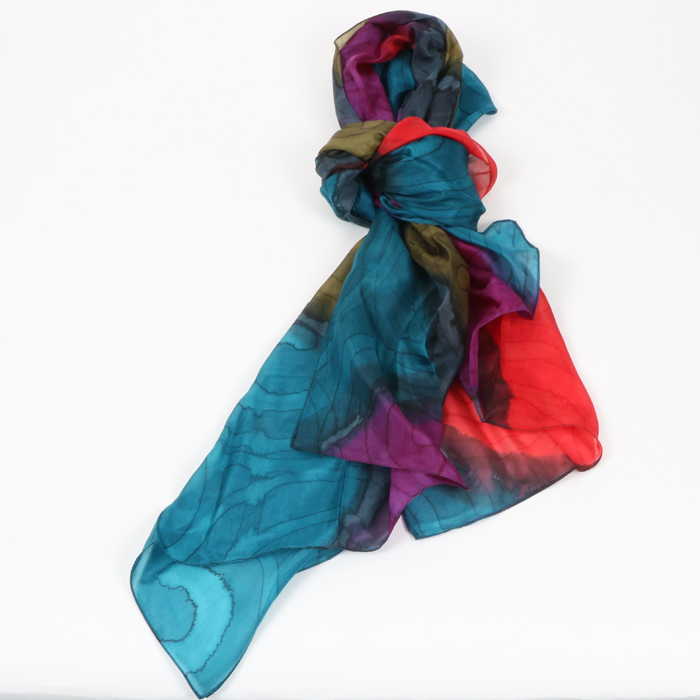 Spiral design silk scarf | TradeAid