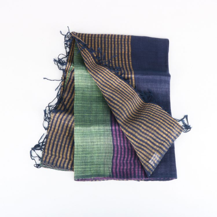 Multicoloured linen and silk scarf | TradeAid