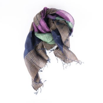 Multicoloured linen and silk scarf | Gallery 2 | TradeAid