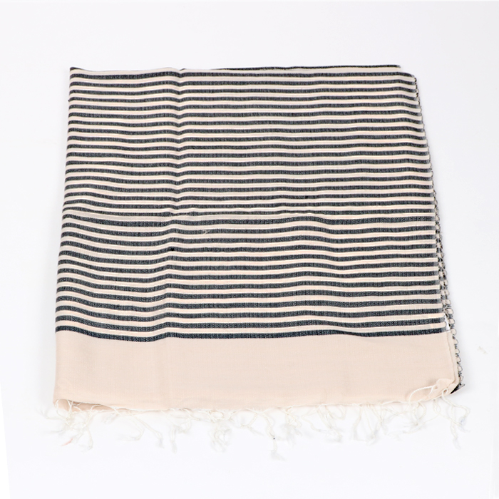 Black and cream stripe scarf | Gallery 2 | TradeAid