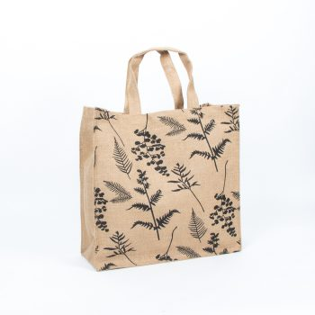 Fern print lined jute bag | TradeAid