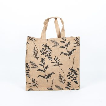 Fern print lined jute bag | Gallery 1 | TradeAid