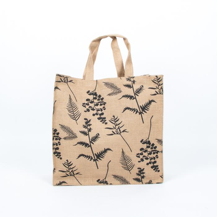 Fern print lined jute bag | Gallery 1 | TradeAid