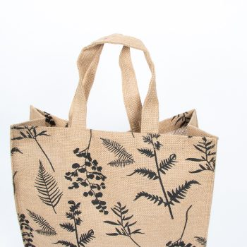 Fern print lined jute bag | Gallery 2 | TradeAid