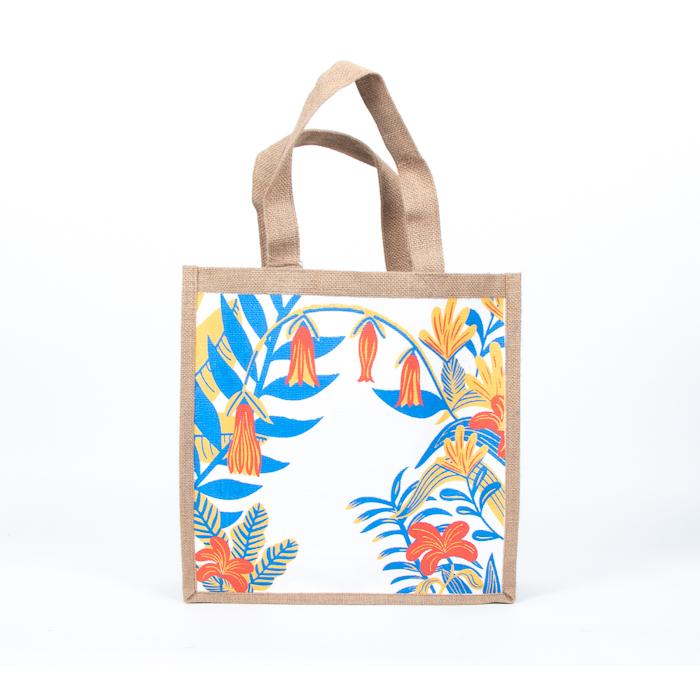 Garden print lined jute bag | Gallery 1 | TradeAid
