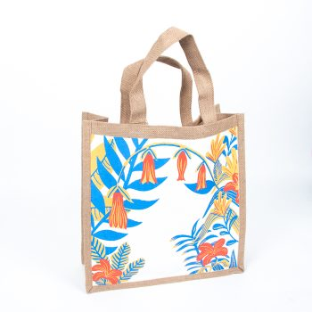 Garden print lined jute bag | TradeAid