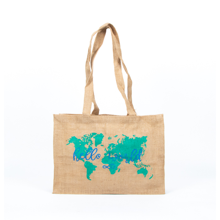 Hello world unlined jute bag | TradeAid