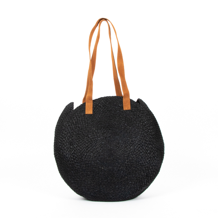 Black circular day bag | Gallery 1 | TradeAid