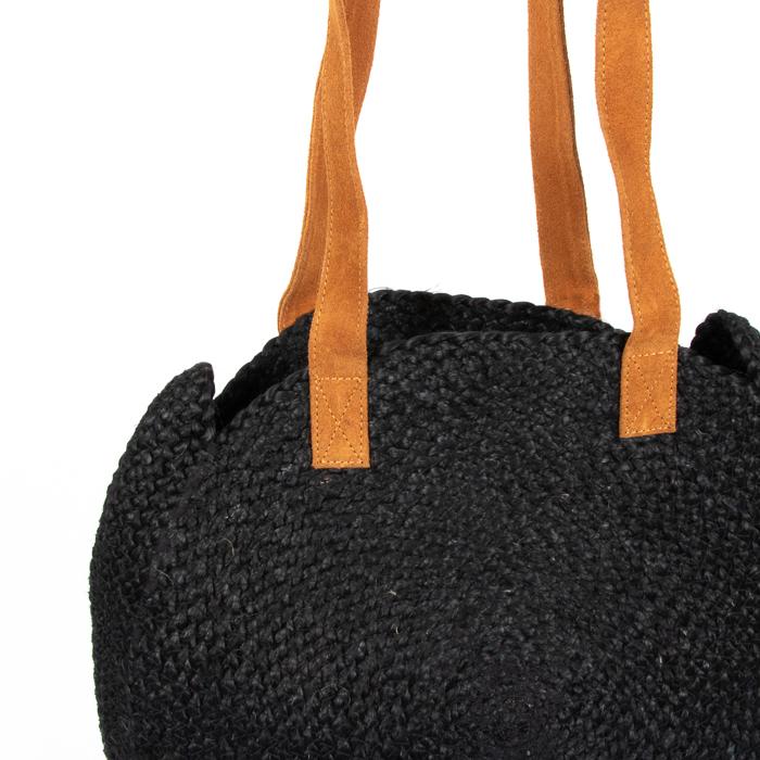 Black circular day bag | Gallery 2 | TradeAid