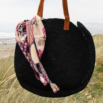 Black circular day bag | TradeAid
