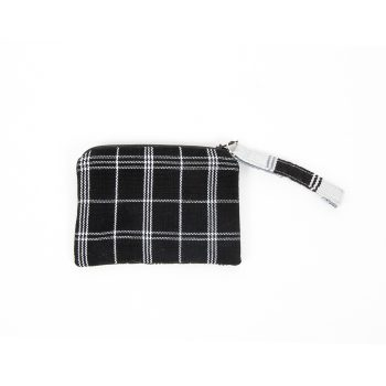 Black and white check purse | TradeAid