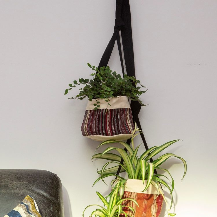 Striped cotton hanging planter | TradeAid