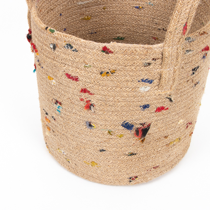 Jute and recycled sari basket   Gallery 1   TradeAid
