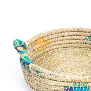 Oval kaisa and recycled sari tray | Gallery 1 | TradeAid