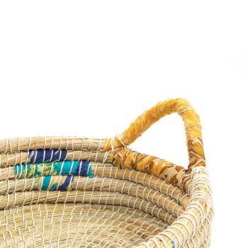 Oval kaisa and recycled sari tray | Gallery 2 | TradeAid