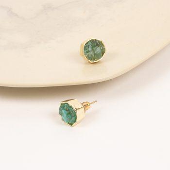 Green labrodorite crystals studs | Gallery 2 | TradeAid