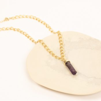 Purple stone pendant necklace | TradeAid