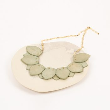 Green bone bead necklace | TradeAid