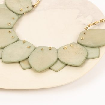 Green bone bead necklace | Gallery 1 | TradeAid