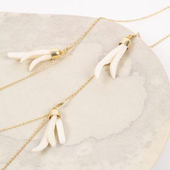 White flower bone bead necklace | Gallery 1 | TradeAid