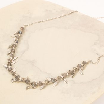 Silver bead and leaf necklace | Gallery 1 | TradeAid
