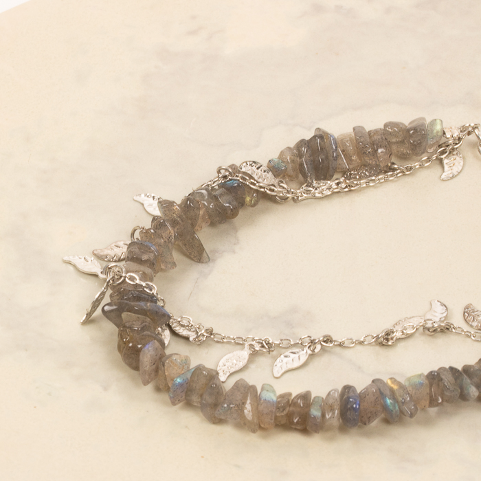 Leaf and stone bracelet | Gallery 1 | TradeAid
