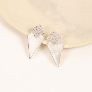 Rhombus earrings with white shell | Gallery 1 | TradeAid