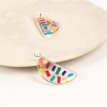 Resin rainbow earrings | Gallery 1 | TradeAid