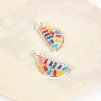 Resin rainbow earrings | TradeAid