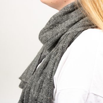 Grey alpaca scarf | Gallery 2 | TradeAid