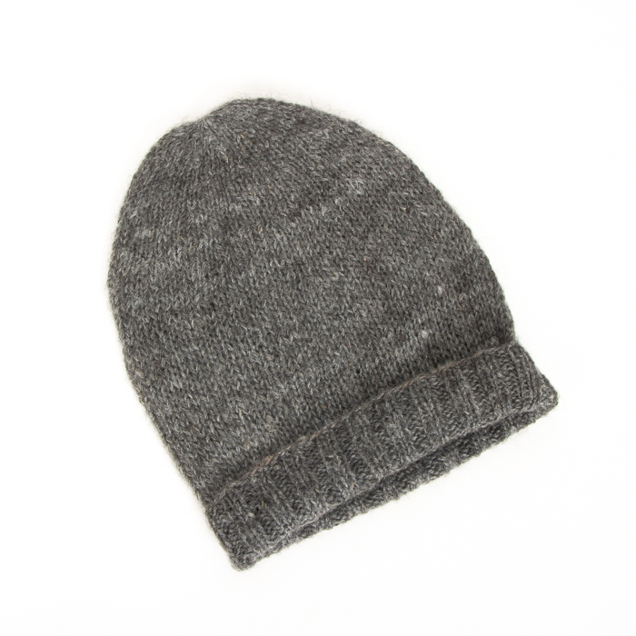 Grey alpaca wool hat | TradeAid