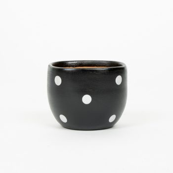Small black planter pot | TradeAid