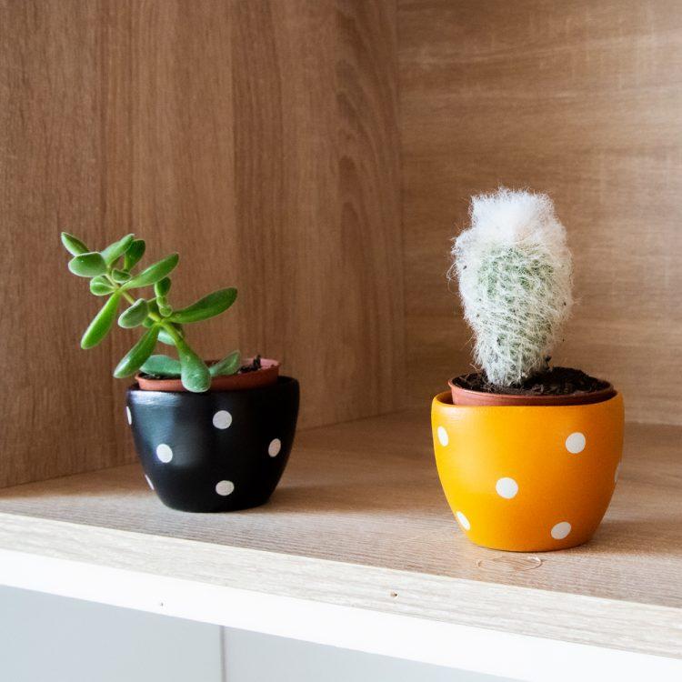 Small yellow planter pot   TradeAid