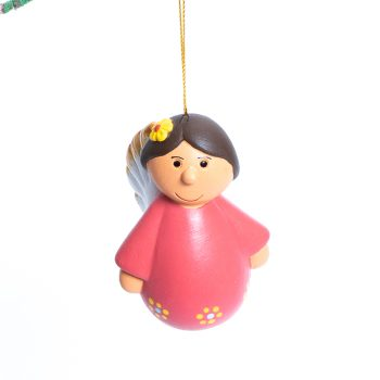 Red hanging angel decoration | TradeAid