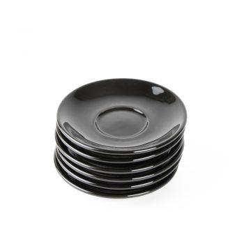 Medium black saucer (set of 6)   TradeAid