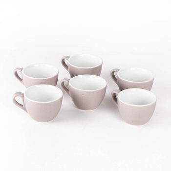 Grey flat white cups (set of 6)   TradeAid