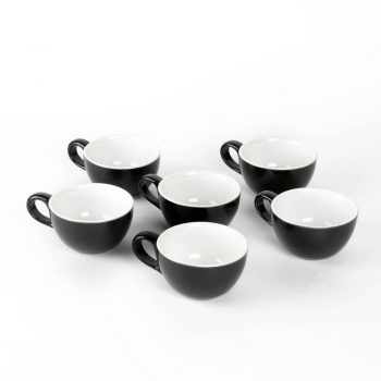 Black cappuccino cup (set of 6)   TradeAid