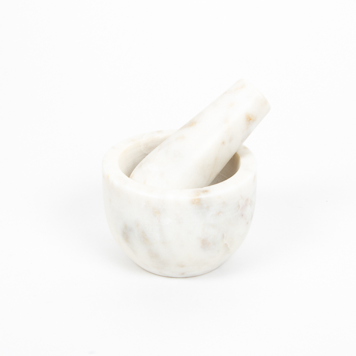 White stone pestle and mortar | TradeAid