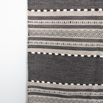 Large black and white dhurrie rug | Gallery 2 | TradeAid